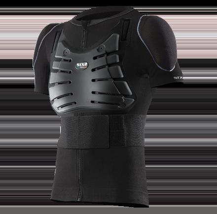 Sixs, Термобелье жакет с коротким рукавом с защитными накладками Kit Pro Ts8, черный