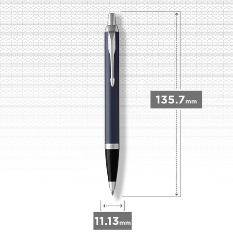 Шариковая ручка Parker IM Metal Matte Blue CT123
