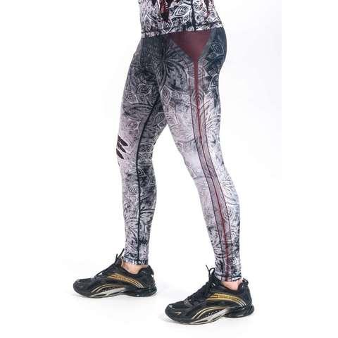 купить мужские тайтсы леггинсы orso aztek apachi белые для бега фитнеса единоборств занятий спортом