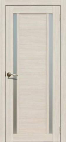 Дверь La Stella 203, стекло матовое, цвет ясень снежный, остекленная