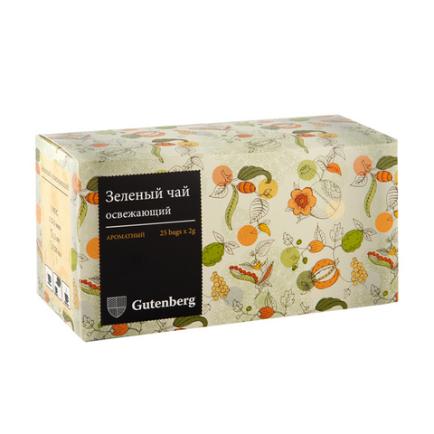 Зеленый освежающий, чай зелёный пакетированный