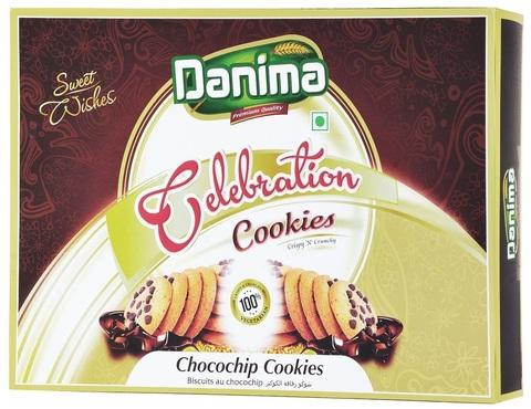 Индийское печенье чоко чип с шоколадом Данима, 300г