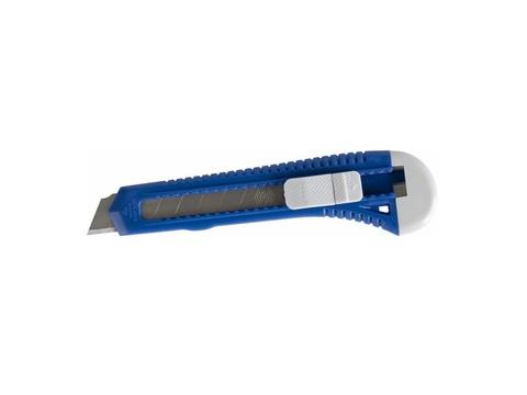 Нож технический КОБАЛЬТ лезвие 18 мм, пластиковый корпус, пакет
