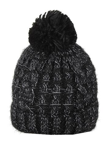 HT1801-2 шапка женская, черная