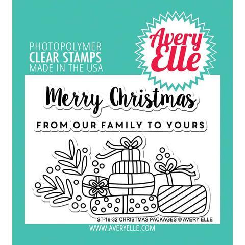 Комплект силиконовых штампов -Christmas Packages