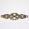 Винтажный декоративный элемент - филигрань 45х17 мм (оксид латуни)