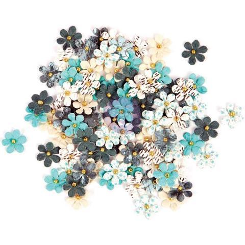 Набор цветов Prima Traveler's Journal Flowers  -Blue Crush - 100шт/1,2см