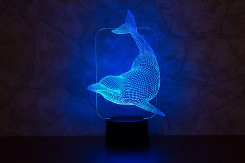 3D ночник Плывущий дельфин