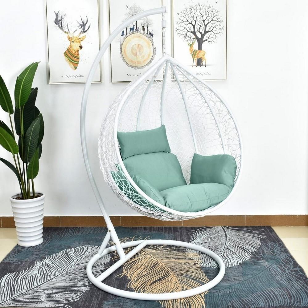 Подвесные кресла Подвесное кресло AFM-168 White AFM-168AL-White-Green.jpg