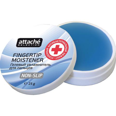 Подушка для смачивания пальцев гелевая Attache Selection усил. антибакт. эф