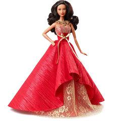Коллекционная Кукла Барби Афроамериканка Праздничная 2014 - Коллектор, Mattel