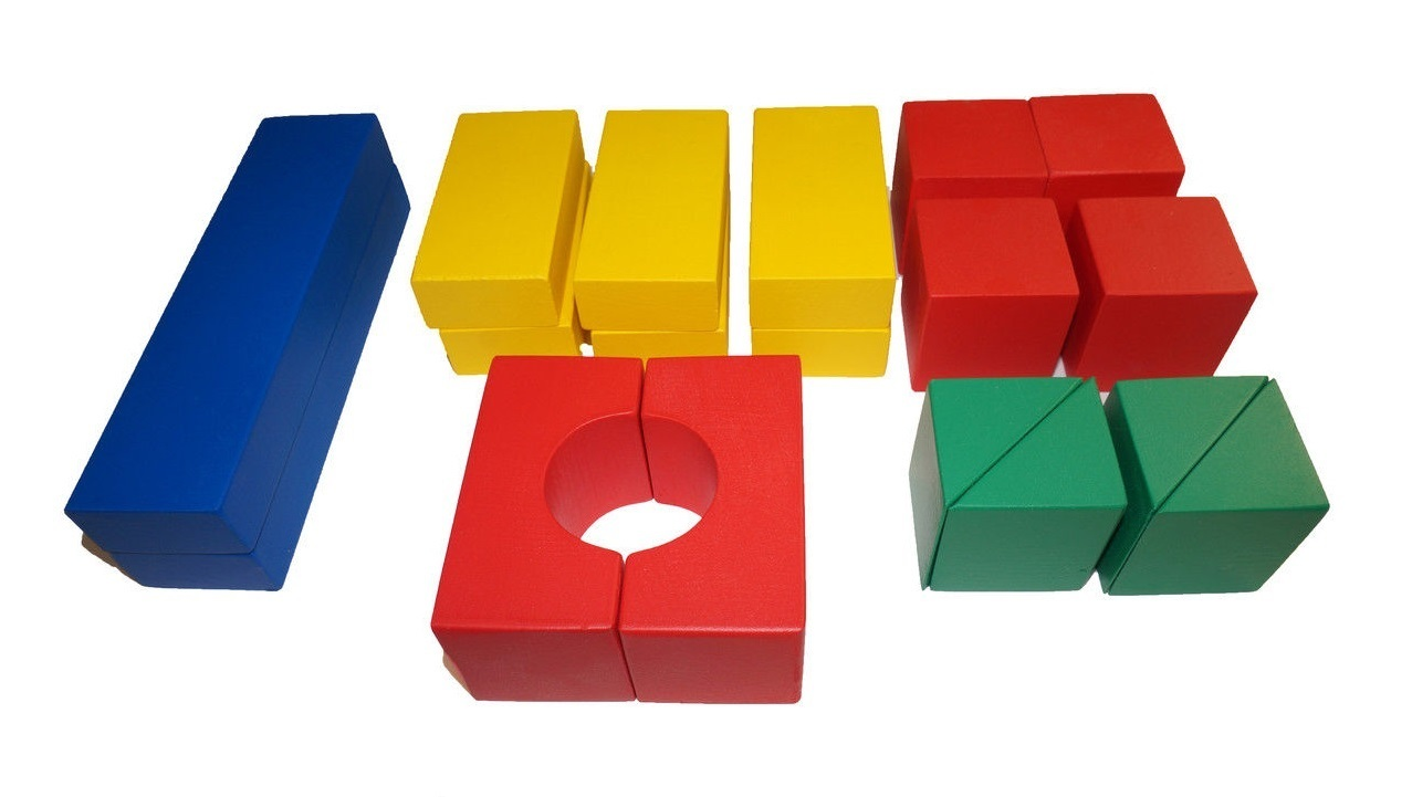 Деревянный конструктор Строитель настольный - 18 элементов