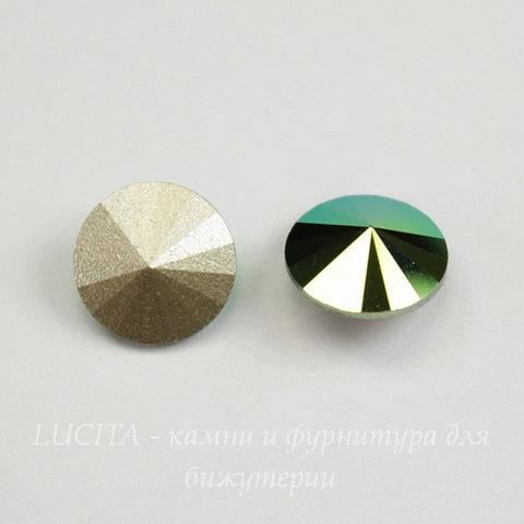 1122 Rivoli Ювелирные стразы Сваровски Crystal Scarabaeus Green (SS39) 8,16-8,41 мм