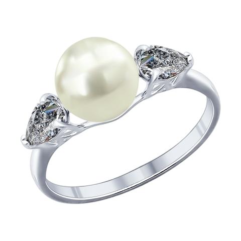 Кольцо из серебра с жемчугом арт.94011763
