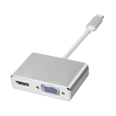 Переходник для Macbook - Type C / HDMI + VGA