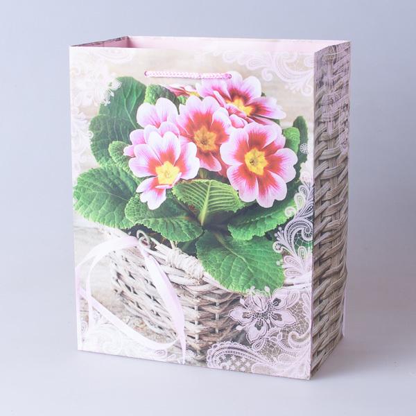 Пакет подарочный бумажный 18*23*10см, 640302-1