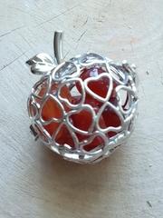 Медальон для камней Яблоко