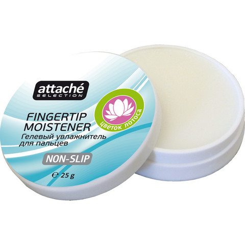 Подушка для смачивания пальцев гелевая Attache Selection Цветок Лотоса, 25г