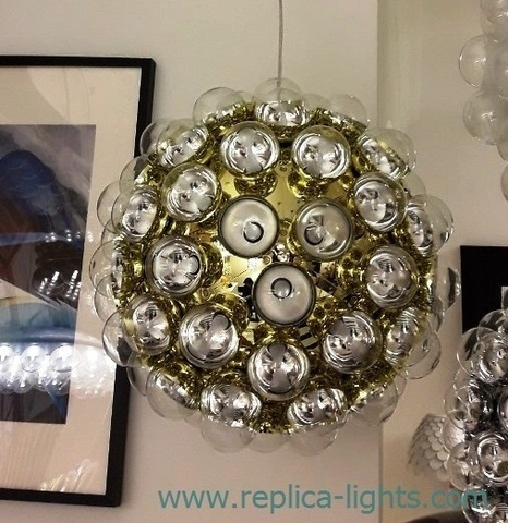replica Prop Light ball lamp ( gold )
