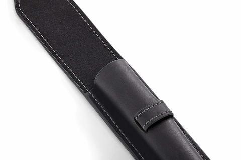 Набор с чехлом из натуральной кожи и Перьевая ручка Parker Sonnet , Lacquer Deep Black GT123