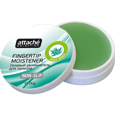 Подушка для смачивания пальцев гелевая гелевая Attache Selection Алоэ Вера,