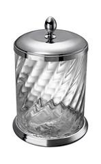 Ведро для мусора с крышкой Windisch 89802CR Salomonic Spiral Silver