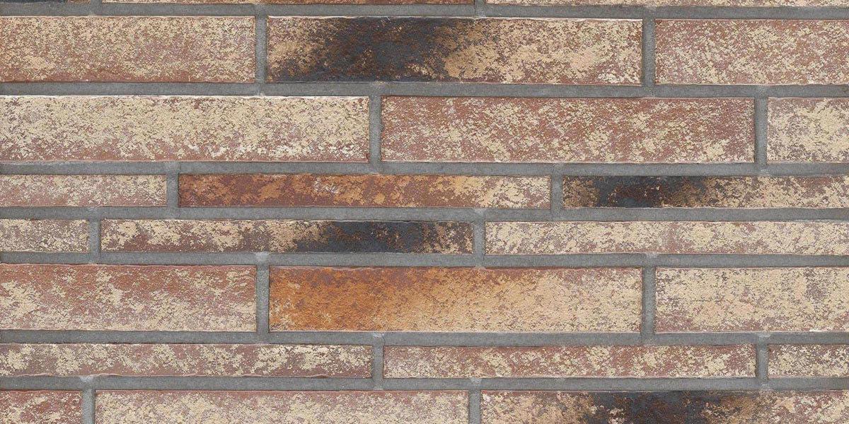 Stroeher - 357 backstein, Zeitlos, состаренная поверхность, ручная формовка, 400x35x14 - Клинкерная плитка для фасада и внутренней отделки