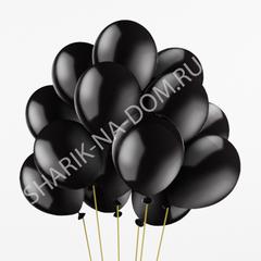 """Воздушные шары с гелием """"Черные"""""""