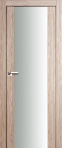 > Экошпон Profil Doors №8X-Модерн, стекло триплекс белое, цвет капучино мелинга, остекленная