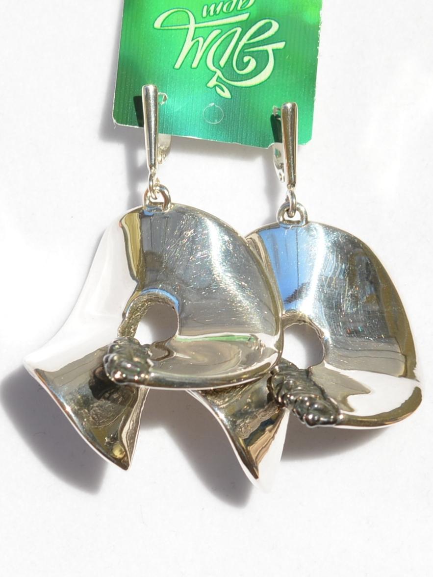 Бублик-шарфик (серьги из серебра)