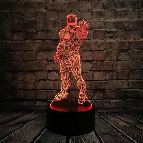3д светильник - Железный человек