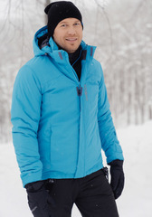 Премиальная теплая лыжная куртка Nordski Mount Blue мужская