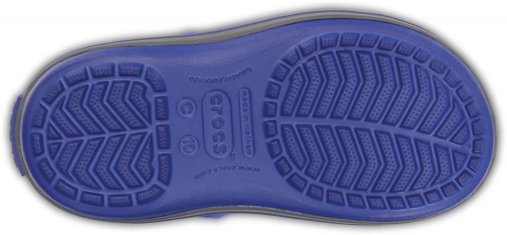 Зимние детские сапожки Crocs Winter Puff Boot Kids Cerulean Blue/Light Grey