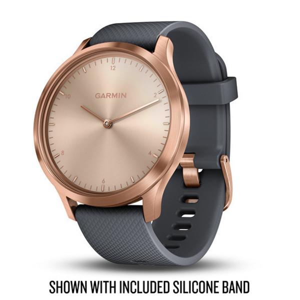 Garmin Vivomove HR Premium розовое золото с бежевым кожаным ремешком