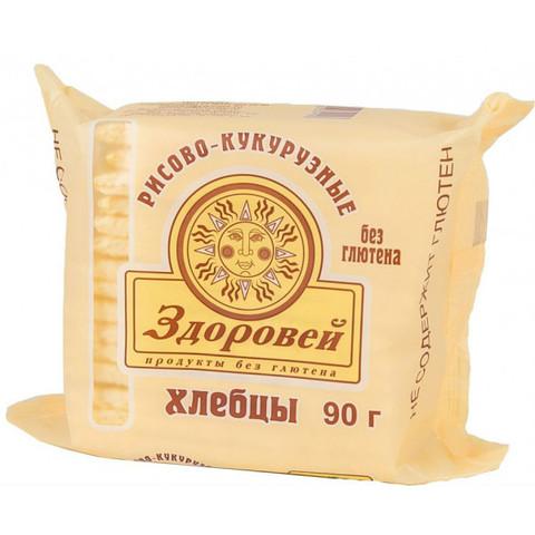 Здоровей, Хлебцы хрустящие рисово-кукурузные 90гр