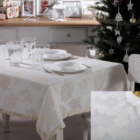 Скатерть 140x360 Vingi Ricami Luxury серебро