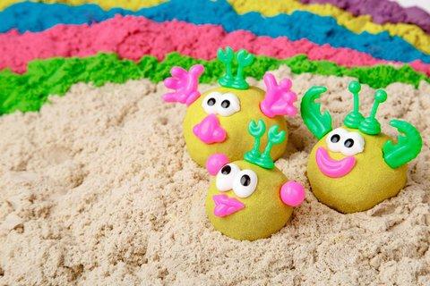 Кинетический песок 1 кг, желтый - Kinetic Sand™