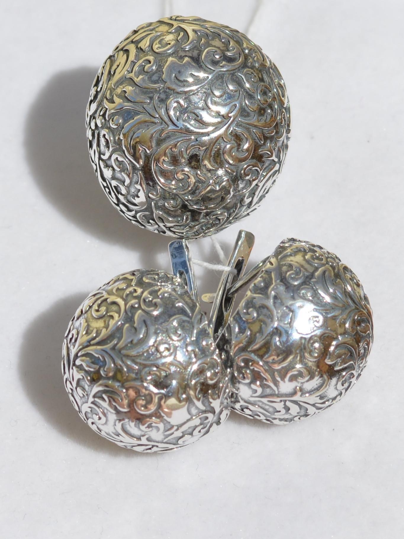 Адриана  (кольцо + серьги из серебра)