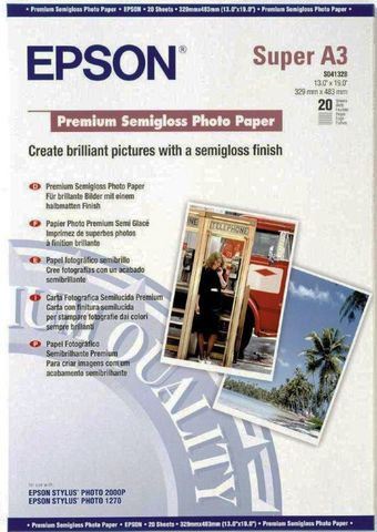 Полуглянцевая фотобумага Epson Premium Semigloss Paper A3+ C13S041328