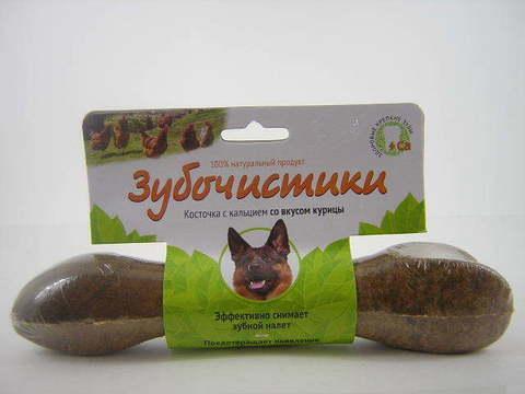 ЗУБОЧИСТИКИ Лакомство жевательное для собак крупных пород со вкусом Курицы