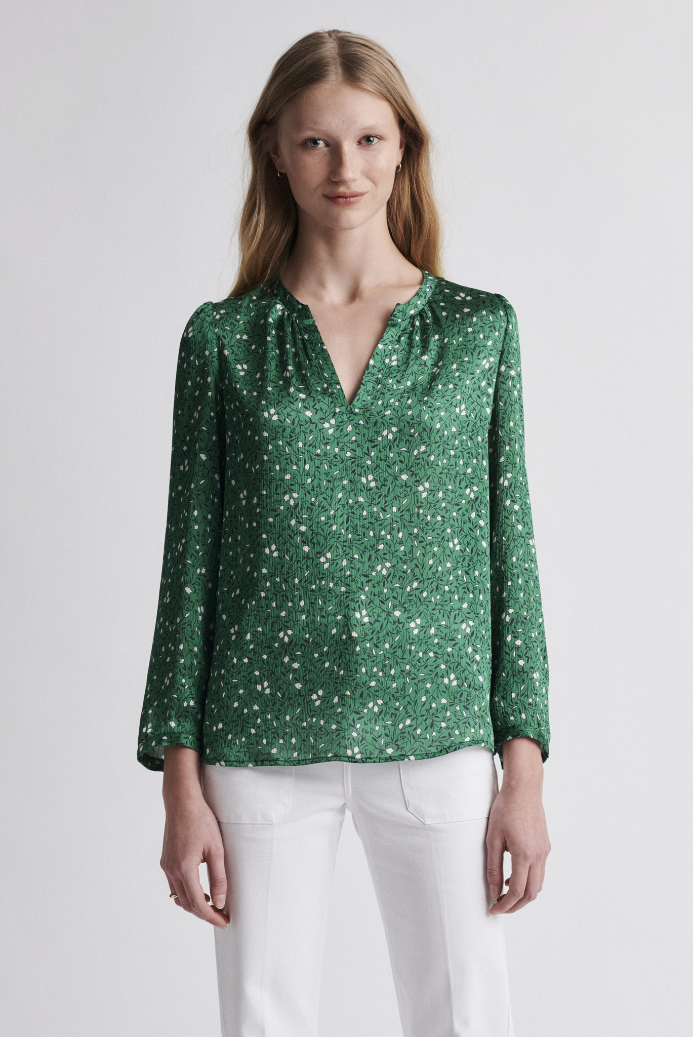 NATALIA - блузка с принтом из крепа