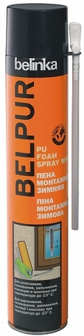 Belinka Belpur Pu Foam Spray Winter Монтажная пена