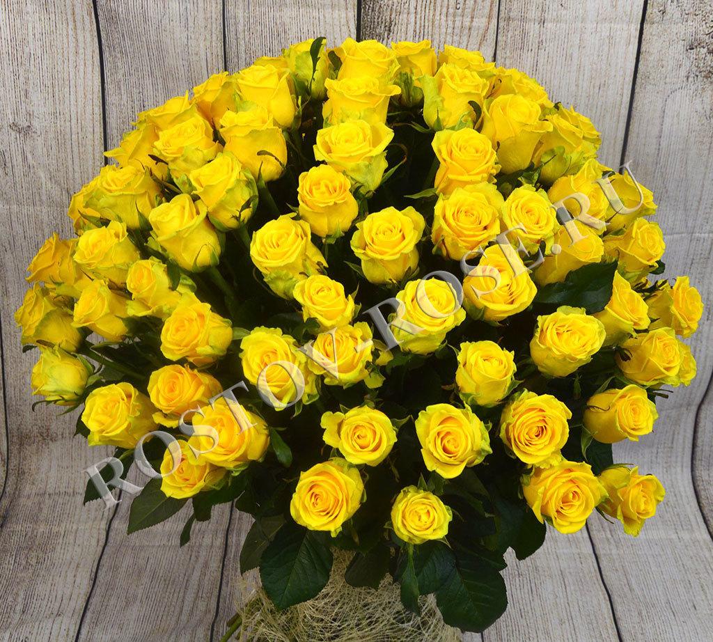 Букет 101 желтая роза (Эквадор)