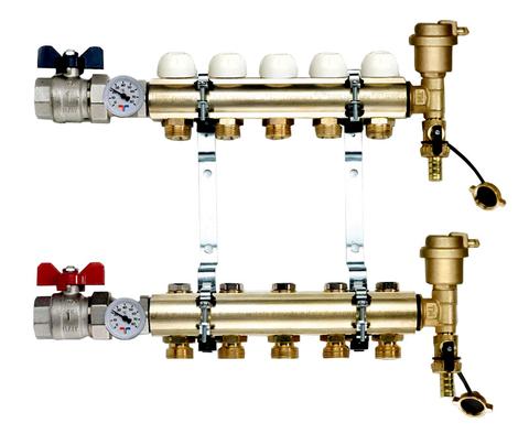 Коллектор Tiemme 1х3/4 ЕК-12 (на двенадцать контуров) для радиаторного отопления