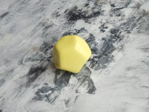 Ручка мебельная керамическая полигональная  - жёлтый, арт.  00001002