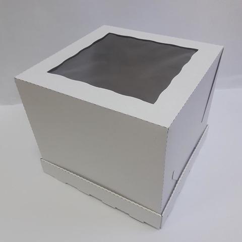 Коробка для торта с окном (26х26х23см)
