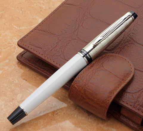 Ручка-роллер Waterman Expert 3, цвет: Deluxe White CT, стержень: Fblk123