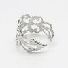 Основа для кольца филигранная (цвет - платина)