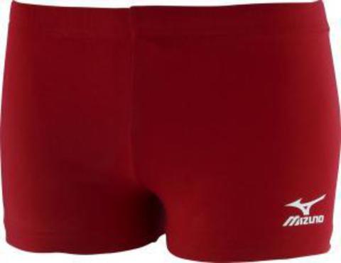 Mizuno Game Tight Тайтсы шорты волейбольные женские Red