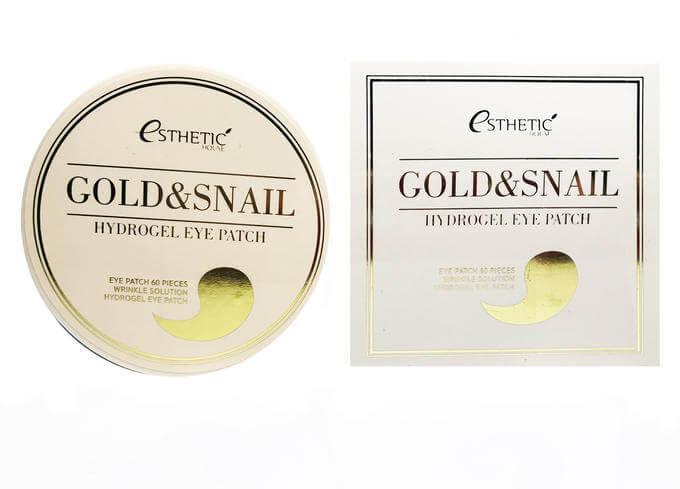Esthetic House Гидрогелевые патчи для глаз Золото/Улитка Gold&Snail Hydrogel Eyepatch, 60 шт